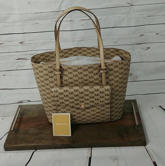 9ad26eb3b168 Michael Kors Bags | Jet Set Gold Multifunction Tote Bag | Poshmark